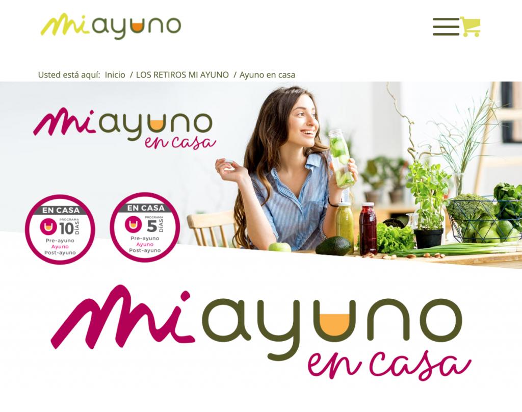 Programa de ayuno en casa en www.miayuno.es